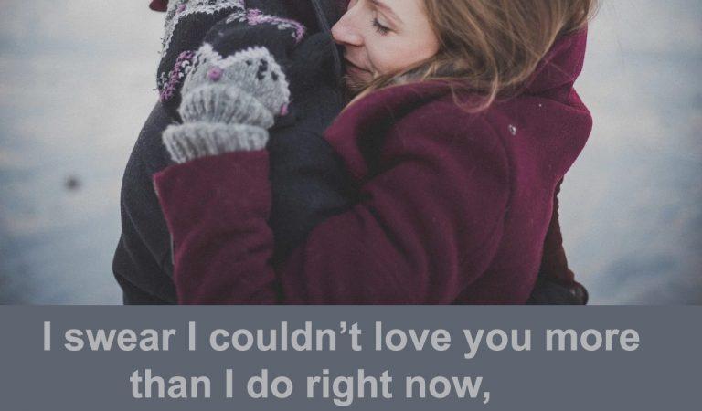 I swear I couldn't love